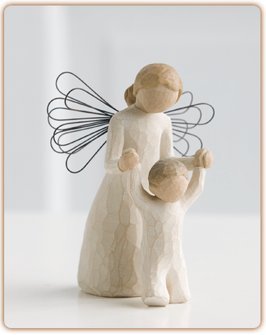willow tree, willow, tree, figurine, guardian angel