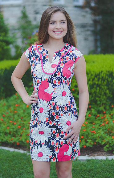 Graphic Floral Dress