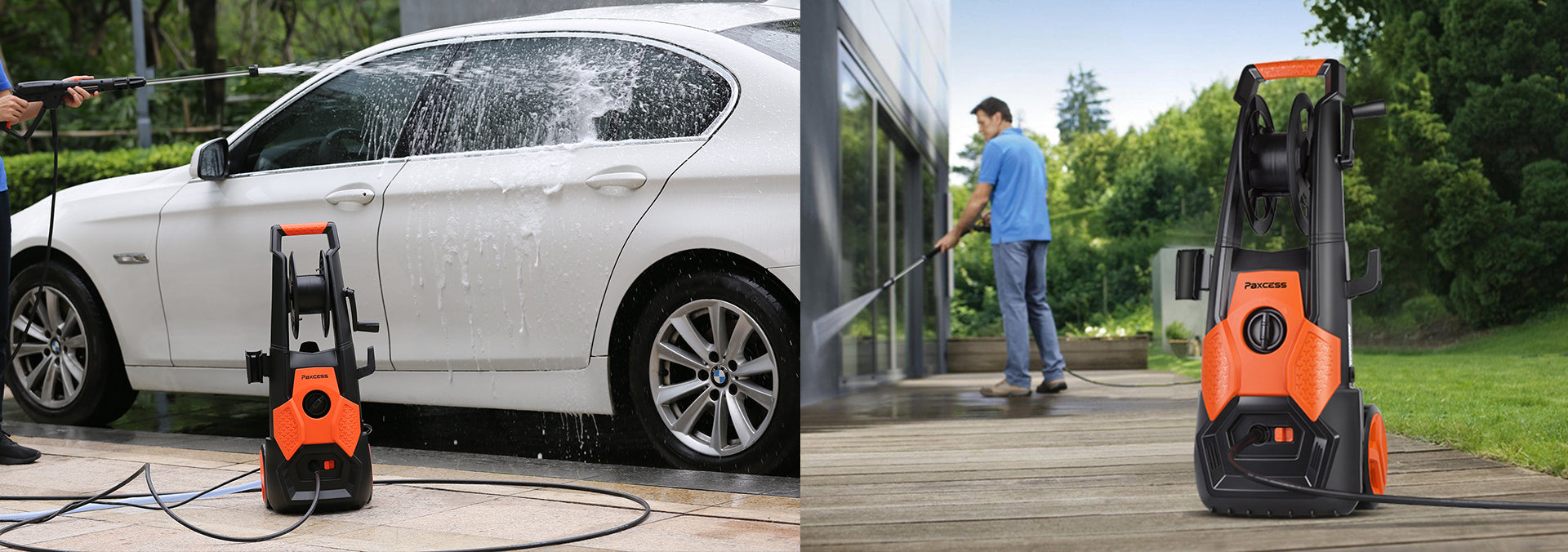 2150psi Pressure Washer Cleaning Car & Floor