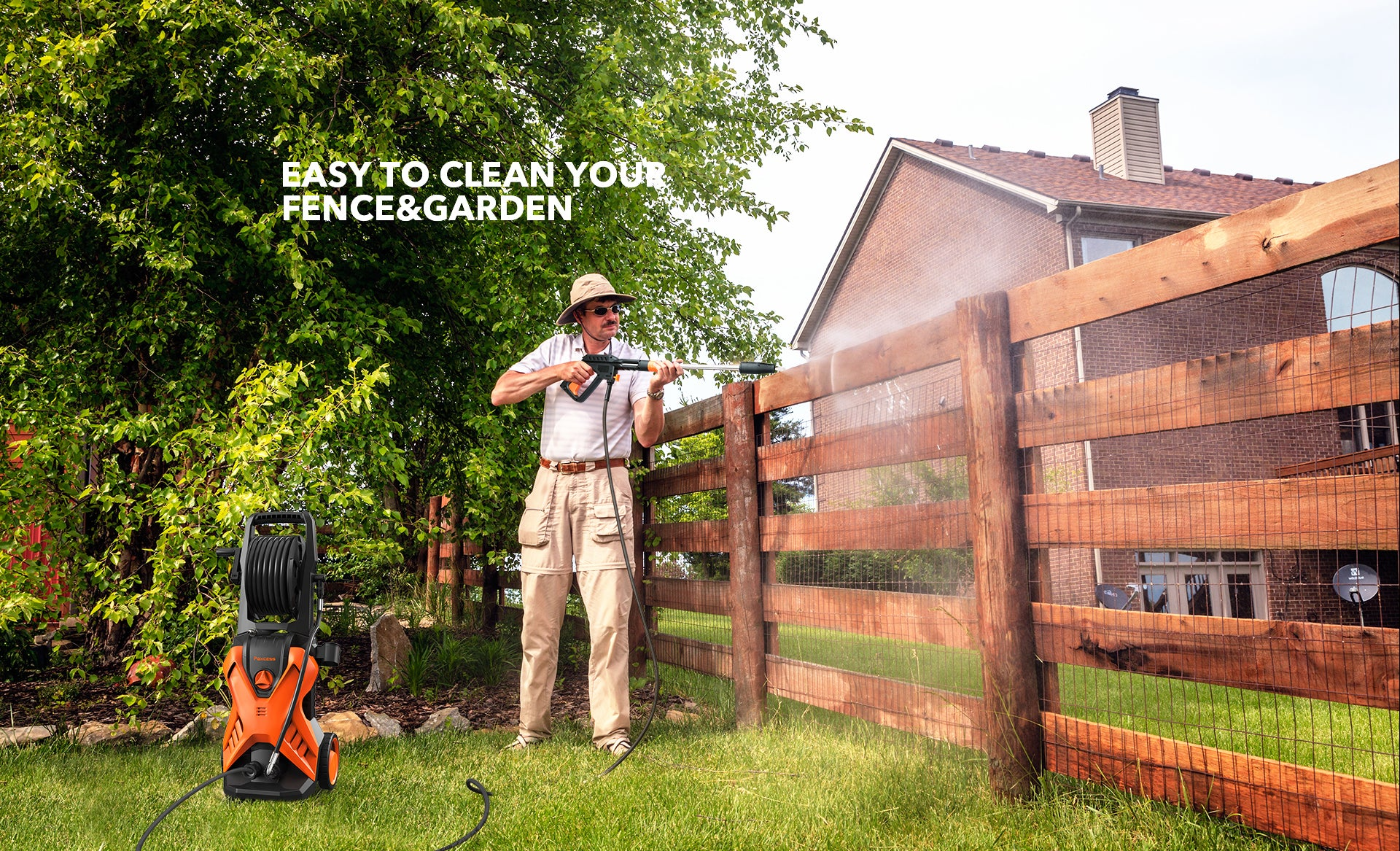 3000psi Pressure Washer Cleaning Garden