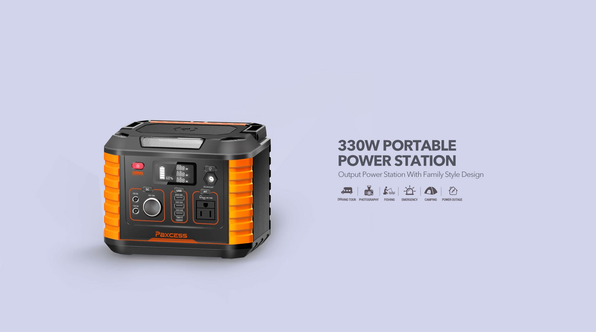 Paxcess 330W Portable Power Station