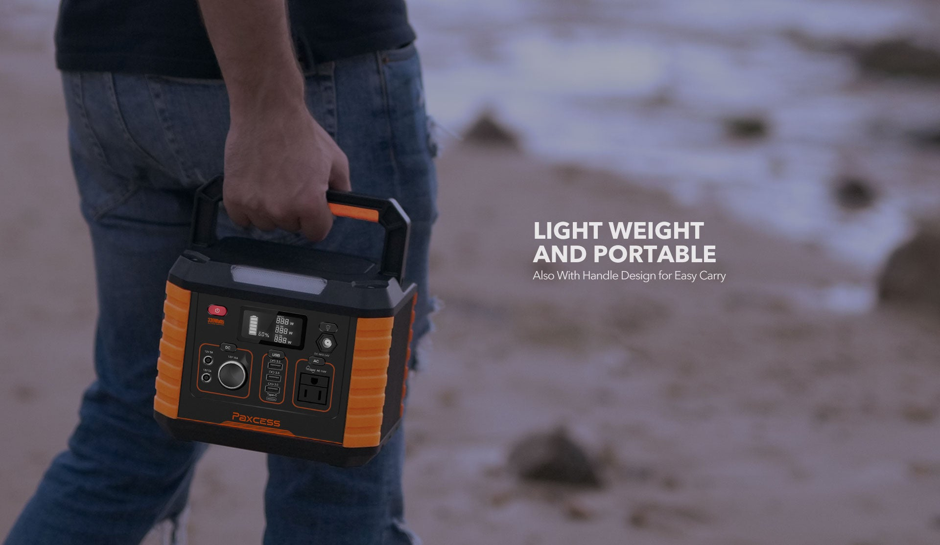 Paxcess 330W Portable Power Station Lightweight
