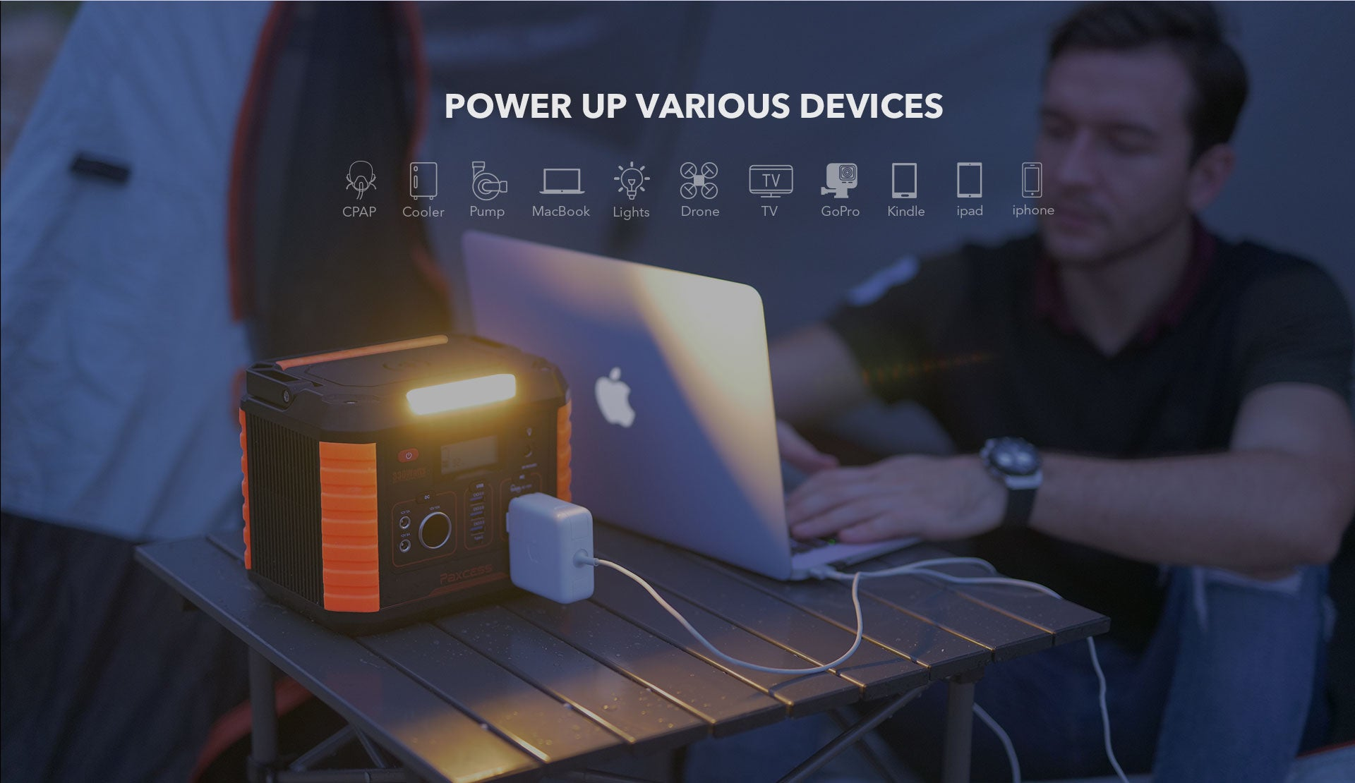Paxcess 330W Portable Power Station Power Up Various devices