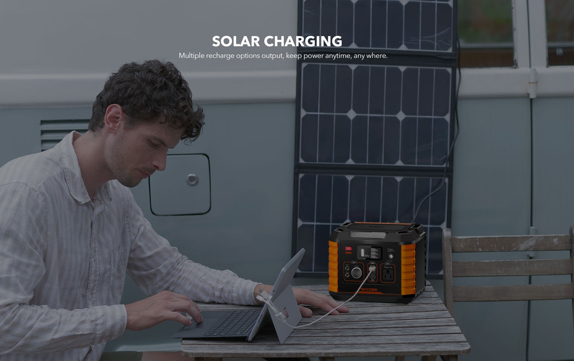 Paxcess 330W Portable Power Station Solar Charging