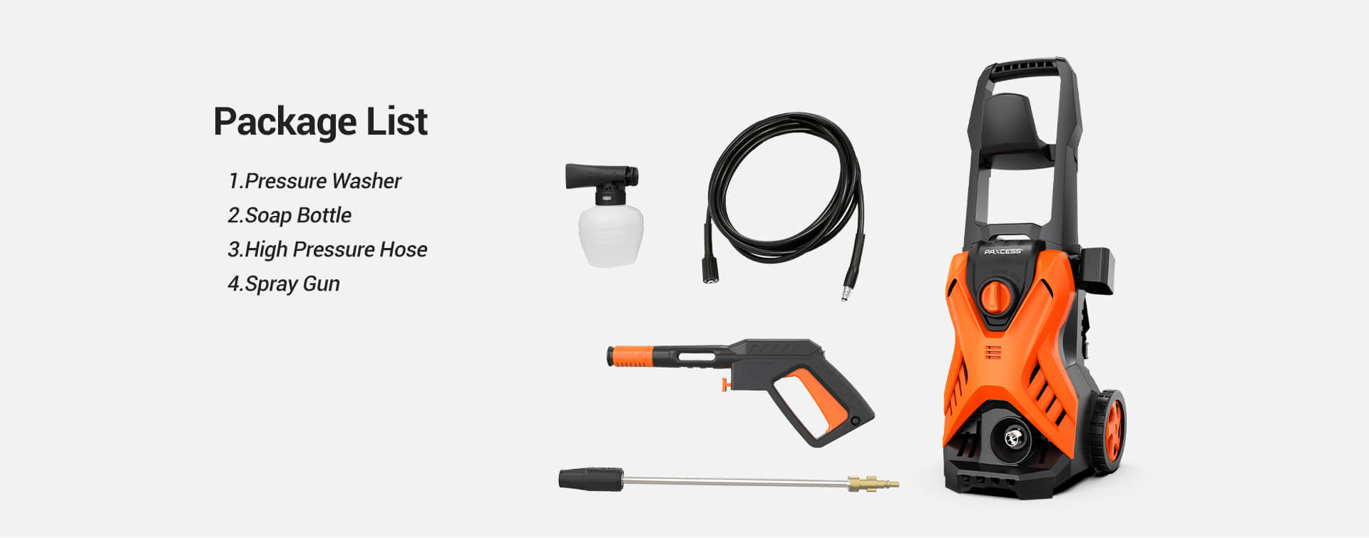 P2.1 Adjustable 2300PSI 1.6GPM Electric Pressure Washer (5)