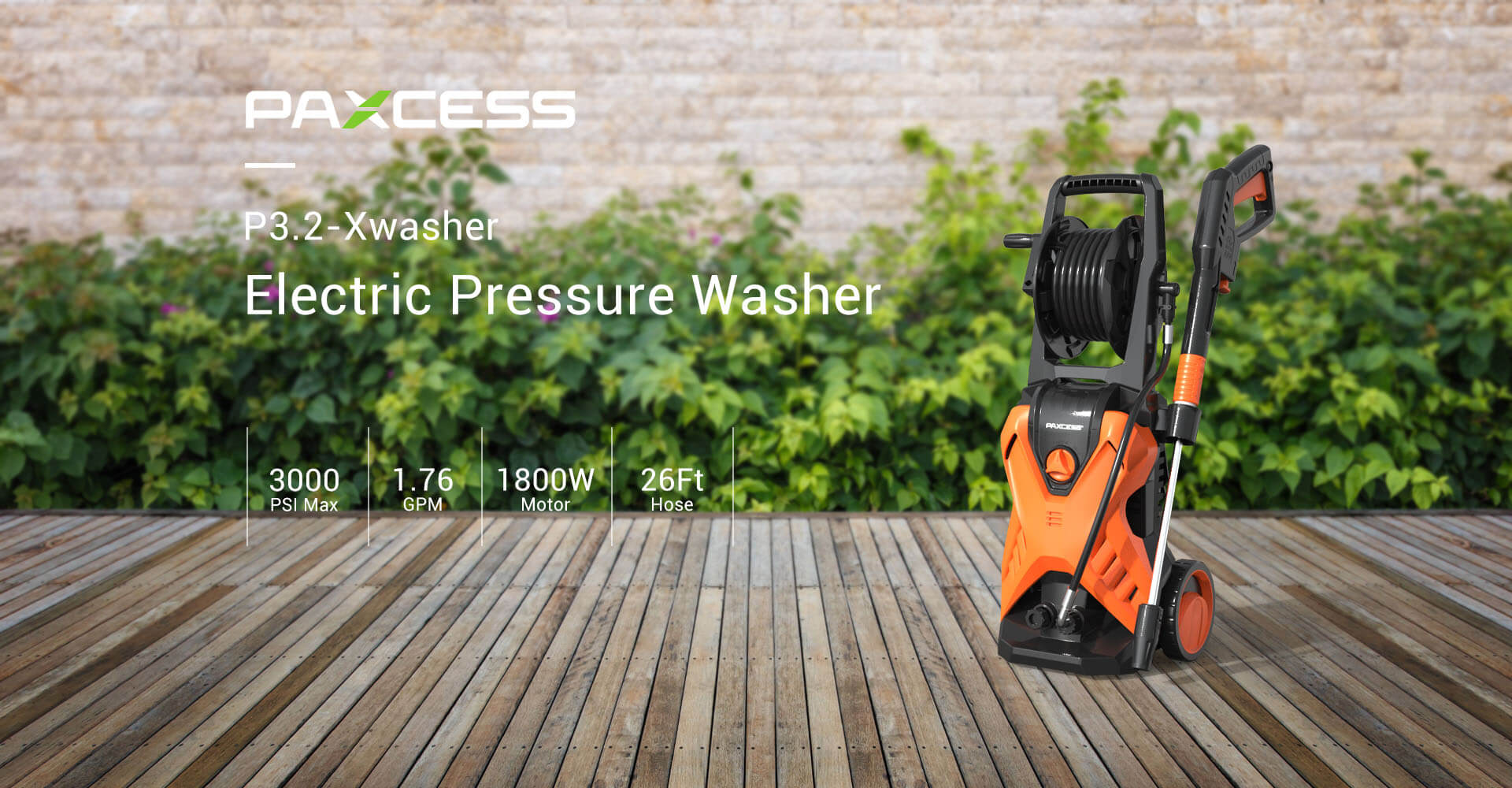 P3.2 X-Washer MAX 3000PSI 1.76GPM Electric Pressure Washer-1