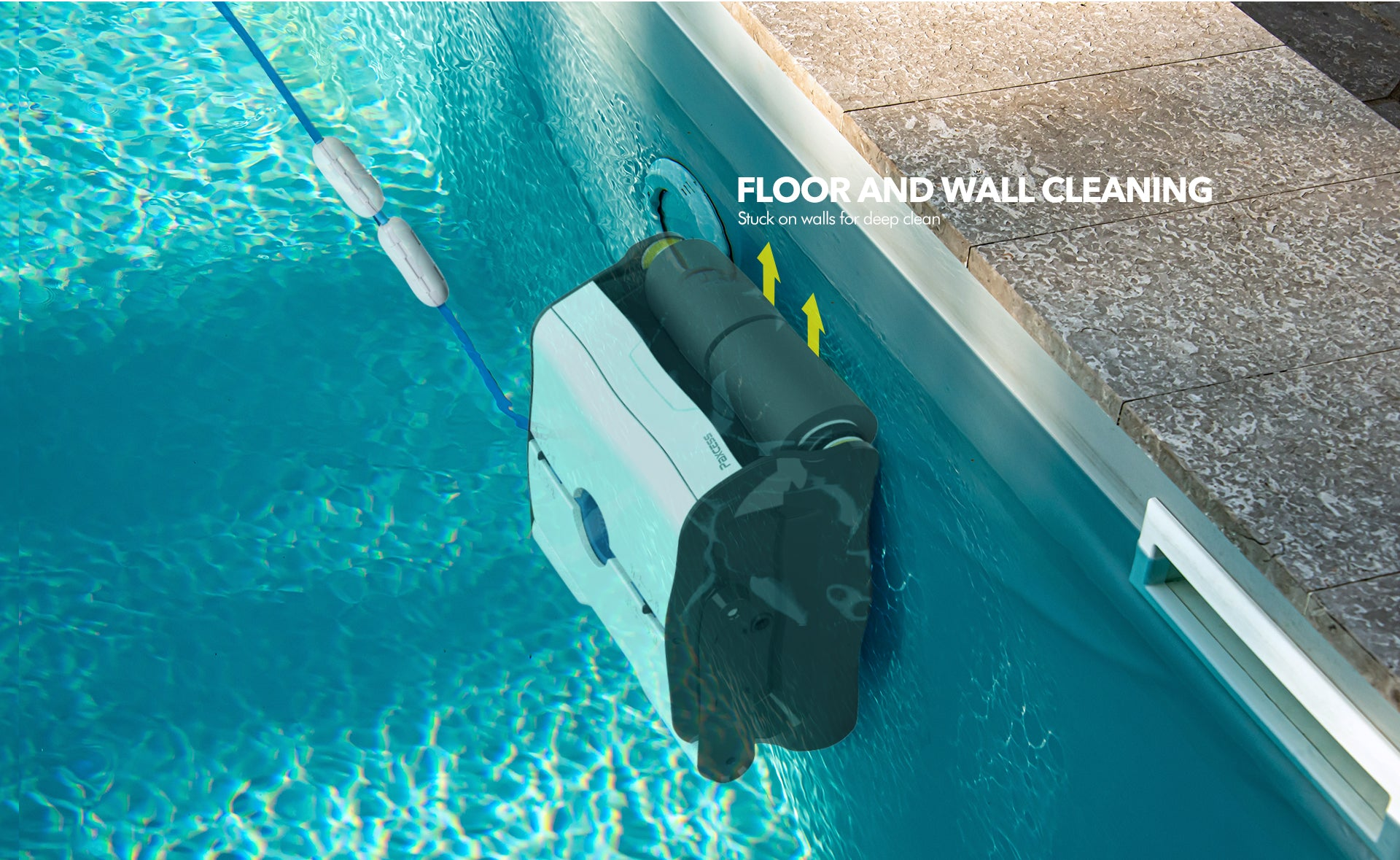 Paxcess Robotic Pool Cleaner with Wall Climbing Function
