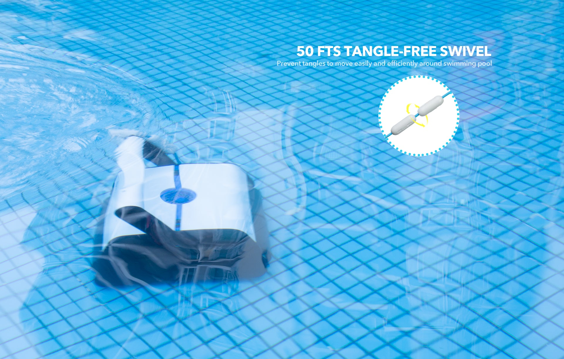 Paxcess Pool Cleaner with 50 Feet Tangle-Free Cord