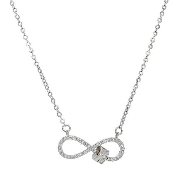 Italian Silver 925 Infinity Necklace - FKJNKL1843
