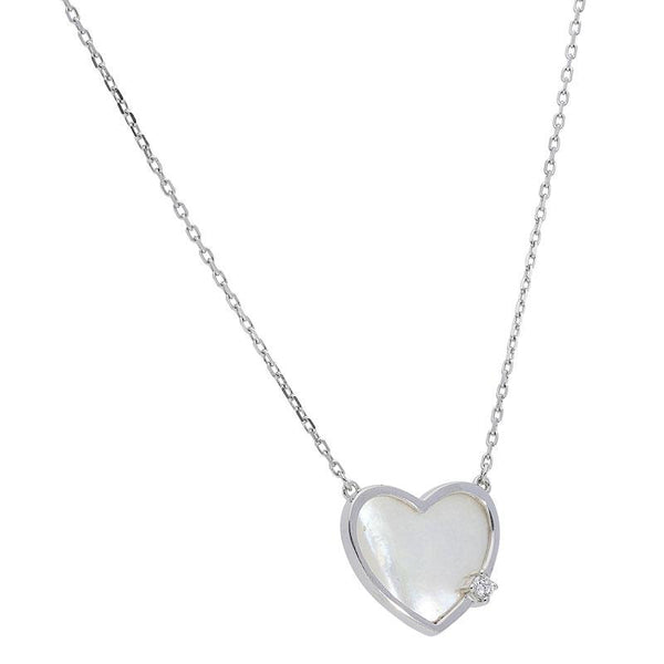 Italian Silver 925 Heart Necklace - FKJNKL1882