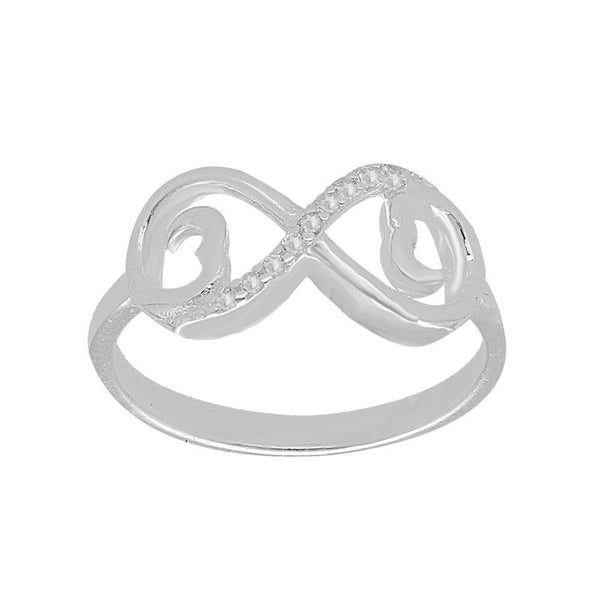 Italian Silver 925 Infinity Pendant Set (Necklace, Earrings and Ring) - FKJNKLST2000