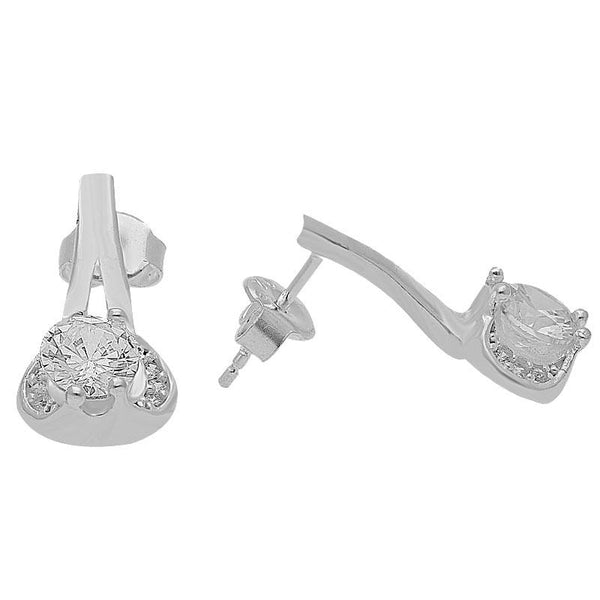 Italian Silver 925 Solitaire Pendant Set (Necklace, Earrings and Ring) - FKJNKLST2030