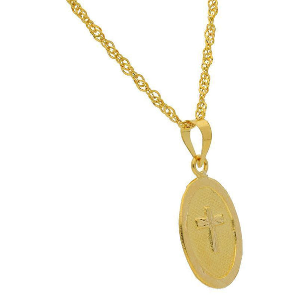 Gold Necklace (Chain with Cross Pendant) 18KT - FKJNKL1198