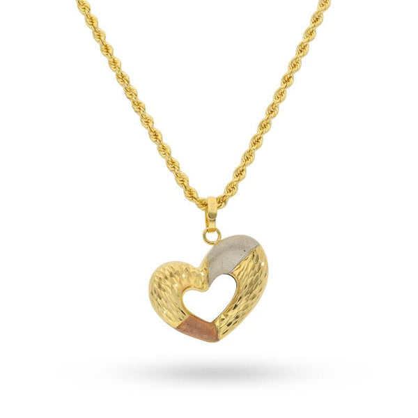 Heart Necklace in 18KT Gold - FKJNKL18K2056