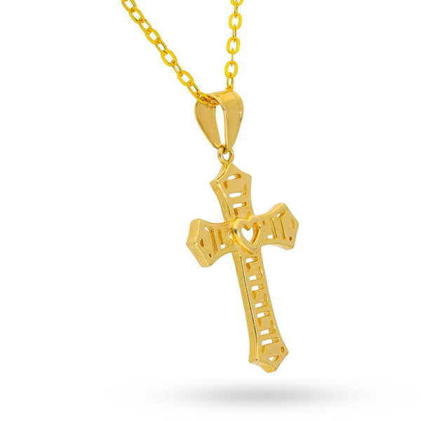 Gold Necklace (Chain with Cross Pendant) 18KT - FKJNKL18K2030