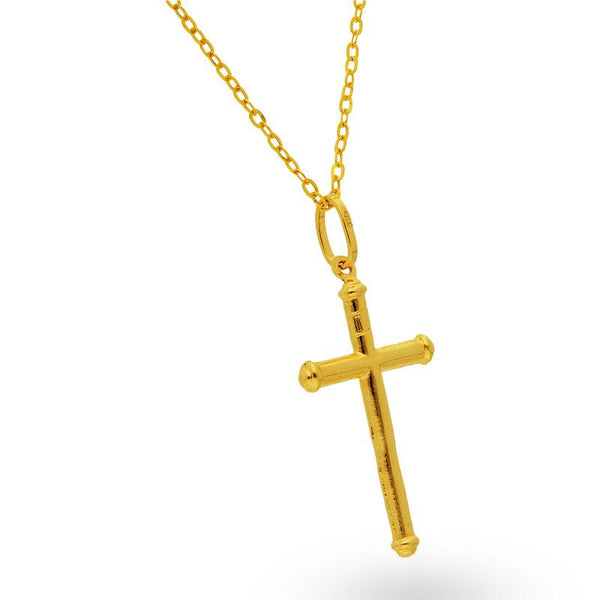 Gold Necklace (Chain with Cross Pendant) 18KT - FKJNKL18K2035