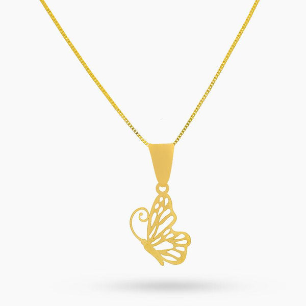 Gold Necklace (Chain with Butterfly Pendant) 18KT - FKJNKL18K2016