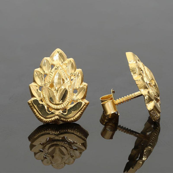 Gold Stud Earrings 18KT - FKJERN1385