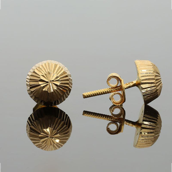 Gold Stud Earrings 18KT - FKJERN1402
