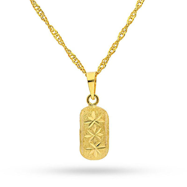 Gold Necklace (Chain with Pendant) 18KT - FKJNKL1205
