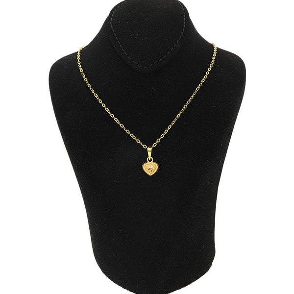 Gold Necklace (Chain with Heart Pendant) 18KT - FKJNKL1215