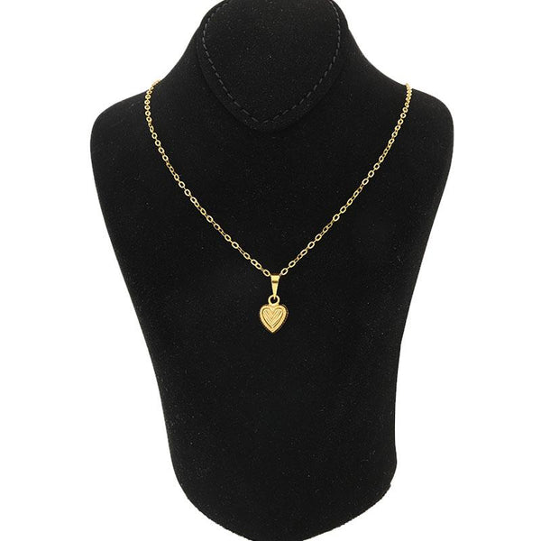 Gold Necklace (Chain with Heart Pendant) 18KT - FKJNKL1218