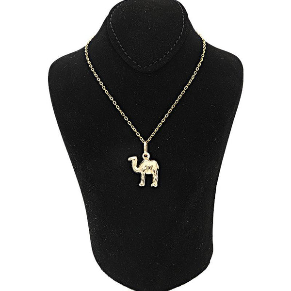Gold Camel Necklace (Chain with Pendant) 18KT - FKJNKL1508