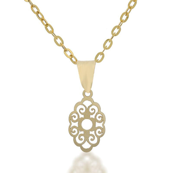 Gold Necklace (Chain with Pendant) 18KT - FKJNKL18K2086