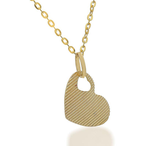 Gold Necklace (Chain with Heart Pendant) 18KT - FKJNKL1699