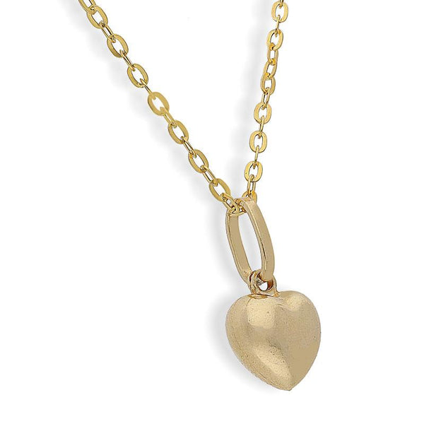 Gold Necklace (Chain with Heart Pendant) 18KT - FKJNKL1667