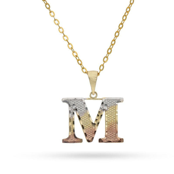 Gold Necklace (Chain with Alphabet Pendant) 18KT - FKJNKL1790