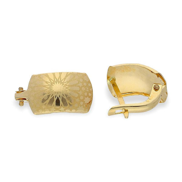 Gold Clip Earrings 18KT - FKJERN18K1904