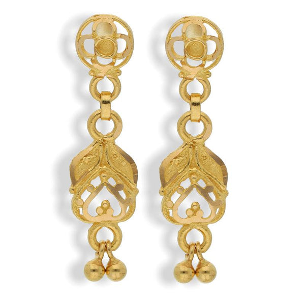 Gold Drop Earrings 22KT - FKJERN22K2111