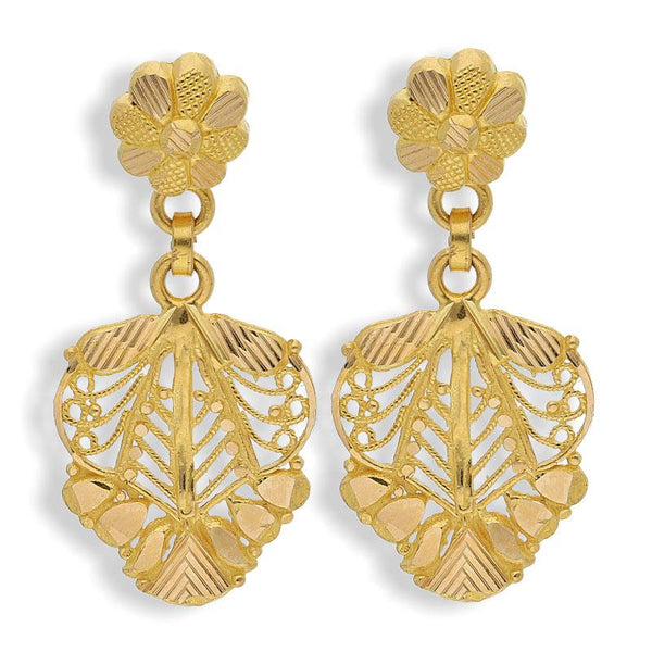 Gold Drop Earrings 22KT - FKJERN22K2137
