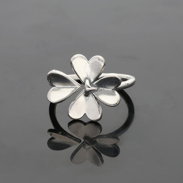 Italian Silver 925 Blooming Flower Ring - FKJRNSL2673