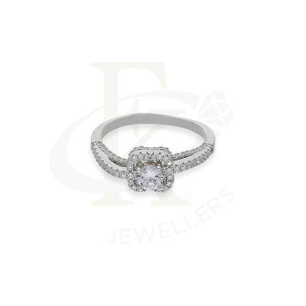 Italian Silver 925 Solitaire Ring - FKJRNSL2674