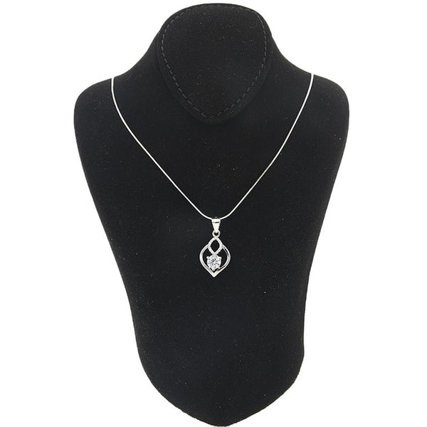 Italian Silver 925 Necklace (Chain with Flower Pendant) - FKJNKLSL2169