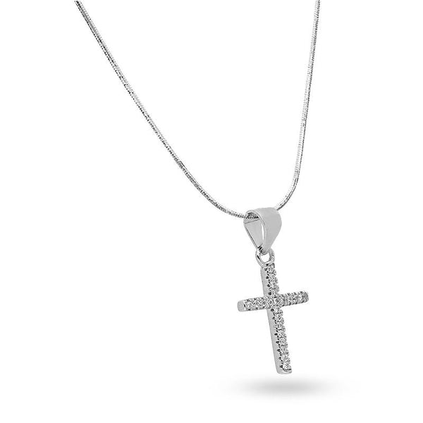 Italian Silver 925 Necklace (Chain with Cross Pendant) - FKJNKLSL2173