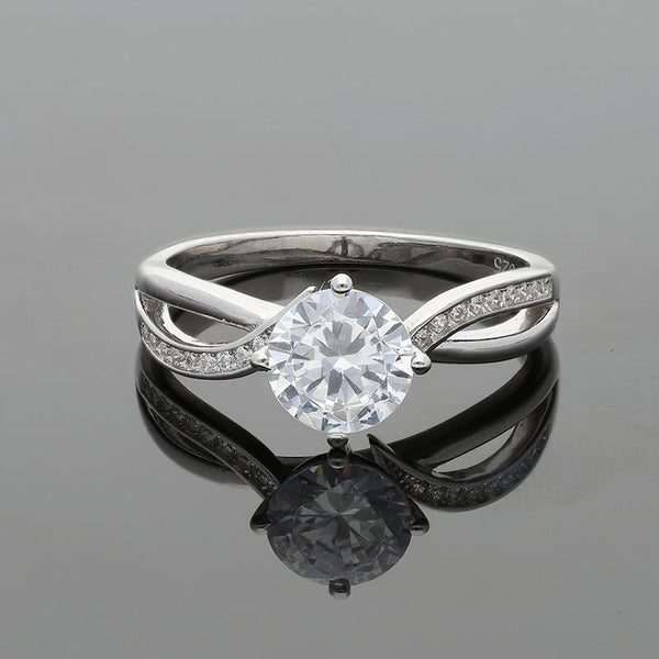 Italian Silver 925 Solitaire Ring - FKJRNSL2440