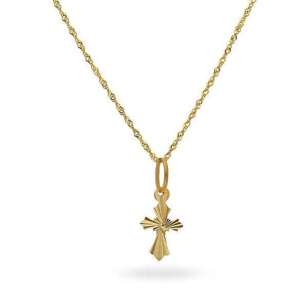 Gold Necklace (Chain with Cross Pendant) 22KT - FKJNKL22K2177