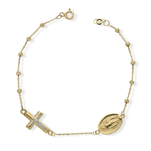 Gold Mother Mary & Jesus Bracelet 18KT - FKJBRL18KU1001