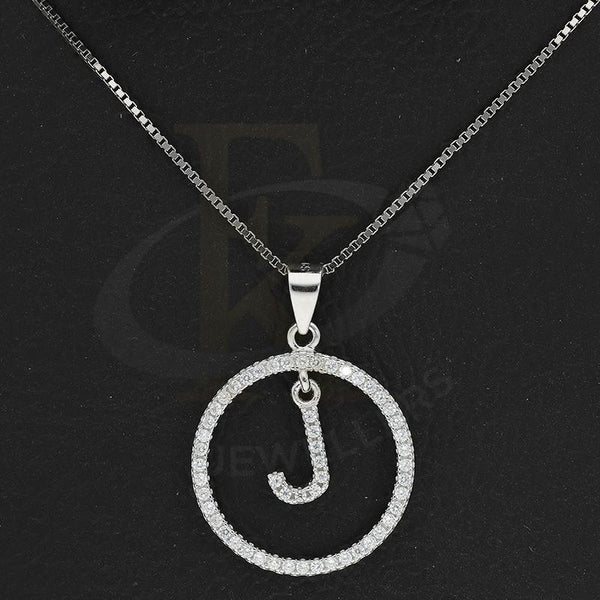 Italian Silver 925 Necklace (Chain with Round Shaped Alphabet Pendant) - FKJNKLSL2277
