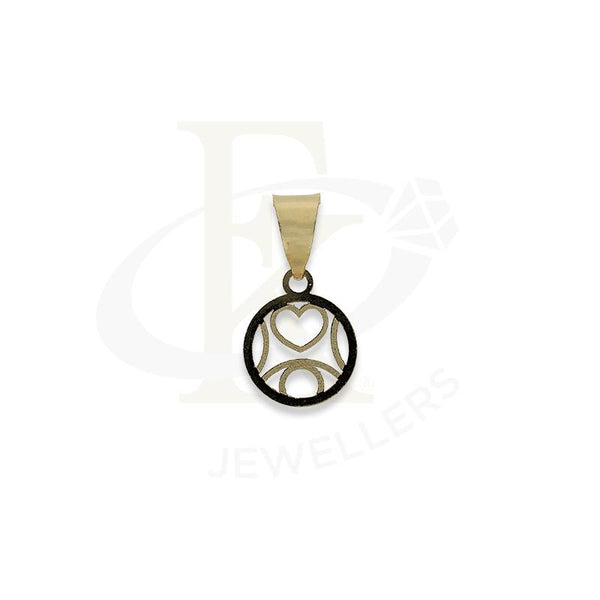 Gold Round Shaped Heart Pendant 18KT - FKJPND18K2298