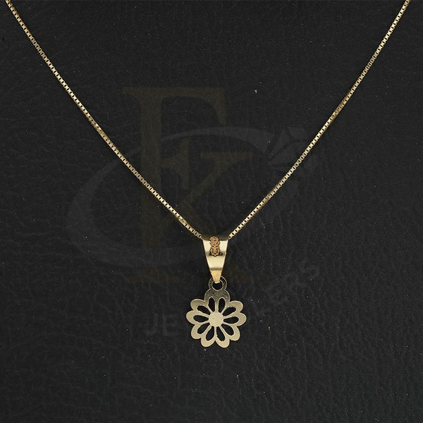 Gold Necklace (Chain with Flower Pendant) 18KT - FKJNKL18K2305