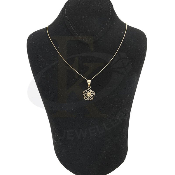 Gold Necklace (Chain with Flower Pendant) 18KT - FKJNKL18K2299