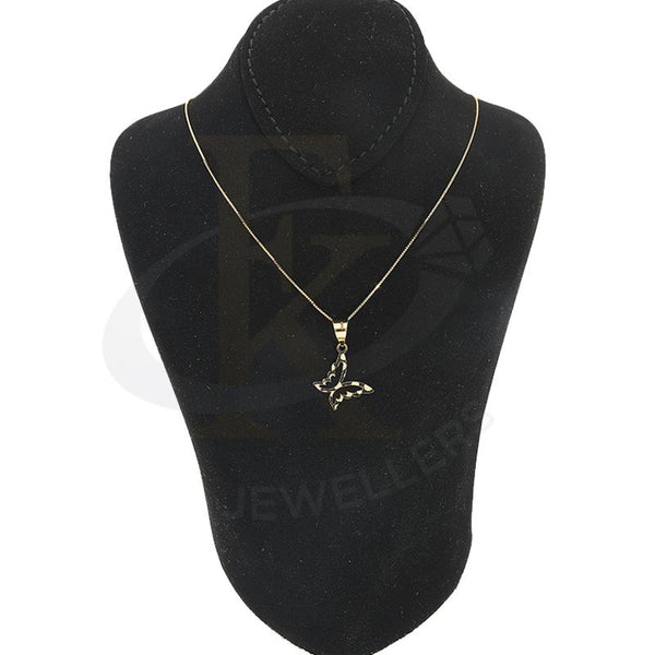 Gold Necklace (Chain with Butterfly Pendant) 18KT - FKJNKL18K2296