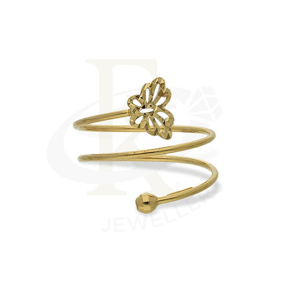 Gold Spiral Ring with Butterfly in 18KT - FKJRN18K2660