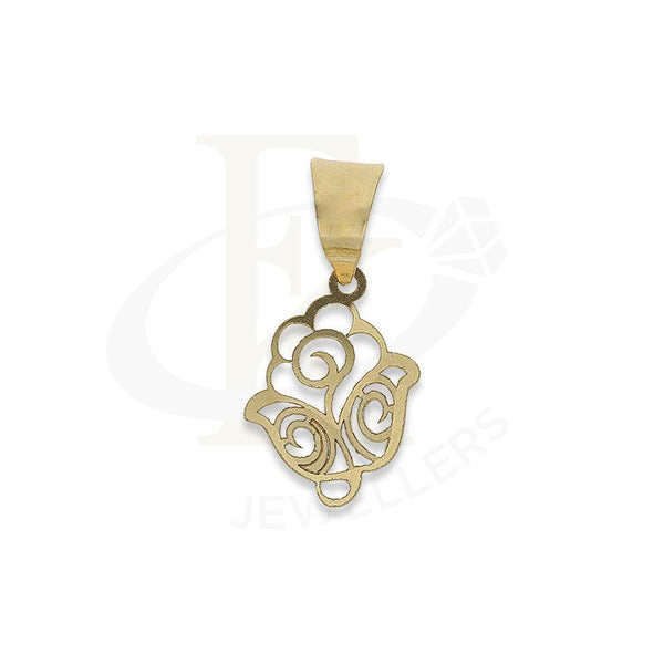 Gold Flower Shaped Pendant 18KT - FKJPND18K2306