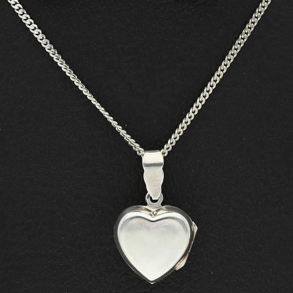 Italian Silver 925 Necklace (Chain with Heart Amulet Locket Pendant) - FKJNKLSL2339