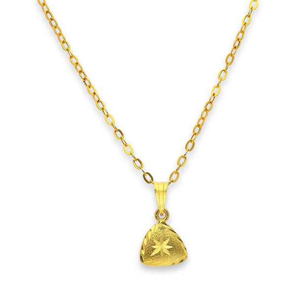Gold Pendant Set (Necklace and Earrings) 18KT - FKJNKLST18K2231